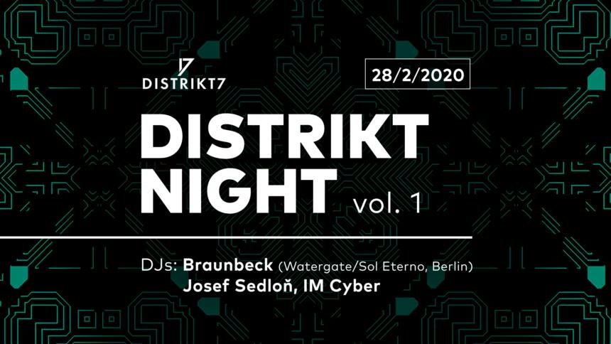 DISTRIKT NIGHT VOL. 1 28. 02. 2020