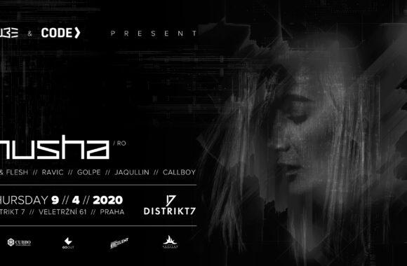 CUBE & CODE presents NUSHA – 9. 4.2020 od 22:00